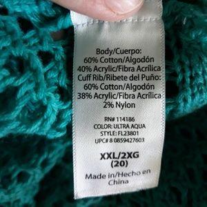 Faded Glory Sweaters - Adorable Aqua shrug, XXL/20